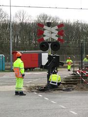 spoorwegovergang Emplacementsweg Beverwijk_20160215-03 (PieterBeverwijk) Tags: beverwijk spoorwegovergang ahob pnm emplacementsweg