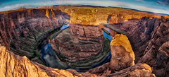 Sunrise at Horseshoe Bend HDR (Ronald T Brown) Tags: arizona fisheye page hdr horseshoebend