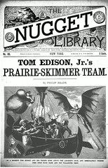 Science fiction steampunk dime novel (steammanofthewest) Tags: airship sciencefiction steampunk 1891 dimenovel tomedisonjr