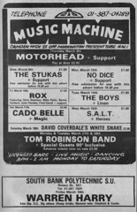NME Concert Ads (3) - April 1978 (rchappo2002) Tags: new music dice london mike boys tom bar club magazine newspaper concert dancing linen camden no south magic gig salt band harry machine bank crescent musical 70s belle warren 1978 express heroes mornington 1970s rox venue seventies 78 90 whitesnake robinson nme classified motorhead inclusive listing polytechnic cado coverdale patto stukas