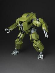 M251 Ridgway (mondayn00dle) Tags: green robot tank lego military olive walker mecha bot mech foitsop
