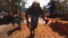 TESV - Power attack (tend2it) Tags: game leaves monster pc screenshot dragon teeth young xbox v rpg elder creature claws groundcover enb nekker scrolls ps3 kenb skyrim sweetfx daegroth