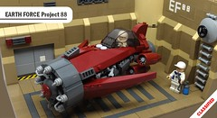 EARTH FORCE Project 88 (2 Much Caffeine) Tags: fighter lego space moc starfighter ironbuilder