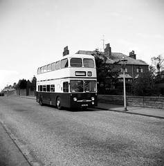 Montague Street (Dundee City Archives) Tags: street old bus public lamp photos broughtyferry dundee transport gas 1960s busses daimler fleetline montaguestreet 4559vc
