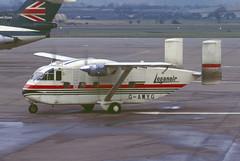 G-AWYG.GLA1973copy (MarkP51) Tags: plane airplane scotland image glasgow aircraft aviation slide shorts kodachrome gla loganair skyvan egpf sc73 gawyg markp51