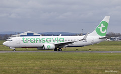 Transavia 737-800 PH-HZE (birrlad) Tags: ireland airplane stand airport ramp gate taxi aircraft aviation airplanes flight terminal landing international shannon airline boeing arrival airways airlines runway landed airliner charter transavia 737 lourdes arriving taxiway b737 737800 snn tarbes b738 phhze 7378k2 hv8614