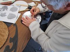 Tooling & Texturing on Metal 2016 Program (Jamestown Audubon) Tags: art texture metal leaf pattern craft workshop program texturing 2016 tooling publicprogram