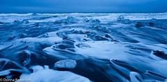 Jkulsrln beach - Iceland (Donna Hampshire) Tags: longexposure sea seascape beach water canon landscape blacksand coast iceland exposure tripod 5d icebergs blackbeach jkulsrln southeasticeland mklll donnarobinson donnahampshire