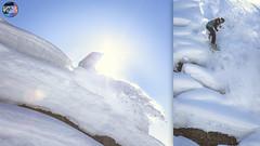 Hartwin @ GayLos (Snow Front) Tags: winter sun snow snowboarding sunny powder pillows snowboard snowboarder lensflair snowfront pillowrun