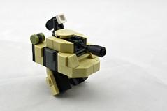 Mk.3x Twank (Tan, Front) (Deltassius) Tags: mobile robot war tank lego space military walker frame zero mecha mech wanzer twank tweepunk mfz mf0