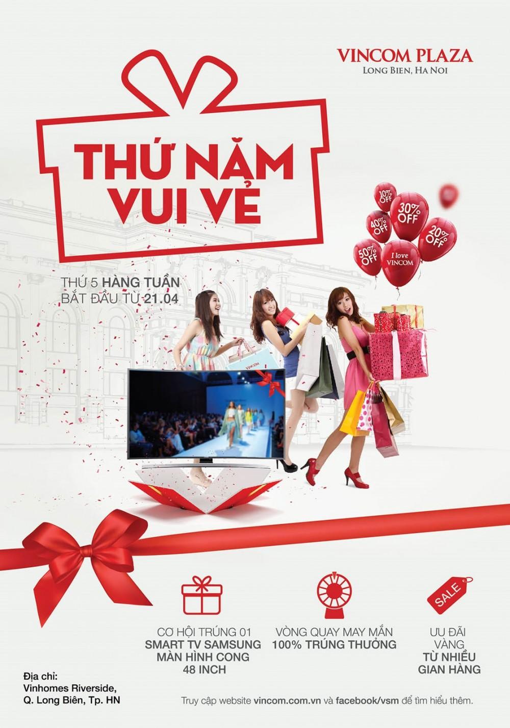 'Thứ Năm Vui vẻ' tại Vincom Plaza Long Biên, Hà Nội