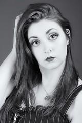 BlackandWhite (Sara Ebony) Tags: blackandwhite studio bigeyes makeup sguardo ritratto