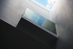 Interior of the Ashmolean Museum, Oxford, UK (John A Briody) Tags: uk blue sky cloud abstract window glass lines wall concrete interior shapes oxford d750 ashmoleanmuseum