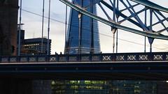 Tower bridge, London, UK (Elisabeth Redlig) Tags: sunset london architecture night towerbridge bridges theshard elisabethredlig