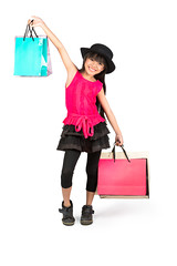 Shopping (Patrick Foto ;)) Tags: portrait people white cute girl beautiful beauty smile face up fashion female shopping bag asian thailand happy person kid holding pretty child hand little sale expression background space small young posing lifestyle happiness thai attractive buy customer concept cheerful joyful copy shopaholic isolated consumer buyer shopper