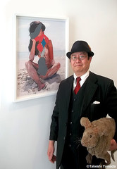 Dr. Takeshi Yamada and Seara (Coney Island Sea Rabbit) at the Chelsea art gallery district in Manhattan, New York on May 12, 2015.  20150512 014=PC (searabbits23) Tags: ny newyork sexy celebrity rabbit art hat fashion animal brooklyn asian coneyisland japanese star tv google chelsea king artist gallery dragon god manhattan famous gothic goth uma ufo pop taxidermy vogue cnn tuxedo bikini tophat unitednations playboy entertainer oddities genius mermaid amc mardigras salvadordali performer unicorn billclinton seamonster billgates aol vangogh curiosities sideshow jeffkoons globalwarming mart magician takashimurakami pablopicasso steampunk damienhirst cryptozoology freakshow seara immortalized takeshiyamada roguetaxidermy searabbit barrackobama ladygaga climategate  manwithrabbit