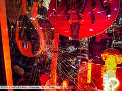 Blue Eagle Music Window Display with shattered glass at night (John P Sullivan) Tags: ohio usa reflection shop night reflections downtown neon unitedstates guitar guitars samsung athens uptown nightime strings neonsign windowdisplay courtstreet musicstore neonlight musicshop blueeaglemusic guitarshop johnsullivan ex1 kneebeau johnpsullivan tl500 samsungtl500 johnpaulsullivan