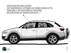 La tigna ecologista degli altri (uomoplanetario.org) Tags: mama satira vignetta ecologia comuni tigna automobilista incentivi mobilitdolce uomoplanetarioorg