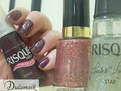 Desafio das Series: 10 - THE ORIGINALS (Dulamaik) Tags: glitter rosa vinho brilho revlon risqu metlico desafio repetido
