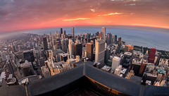 Up on Top (AdamOles) Tags: city sunset orange chicago rooftop sunrise canon buildings river landscape gold coast downtown cityscape skyscrapers loop dusk north chitown windy heights secondcity 5dm3