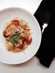 Comfort food on a Sunday night (Alice Olive) Tags: food tomato pasta basil soupkitchen aliceolive