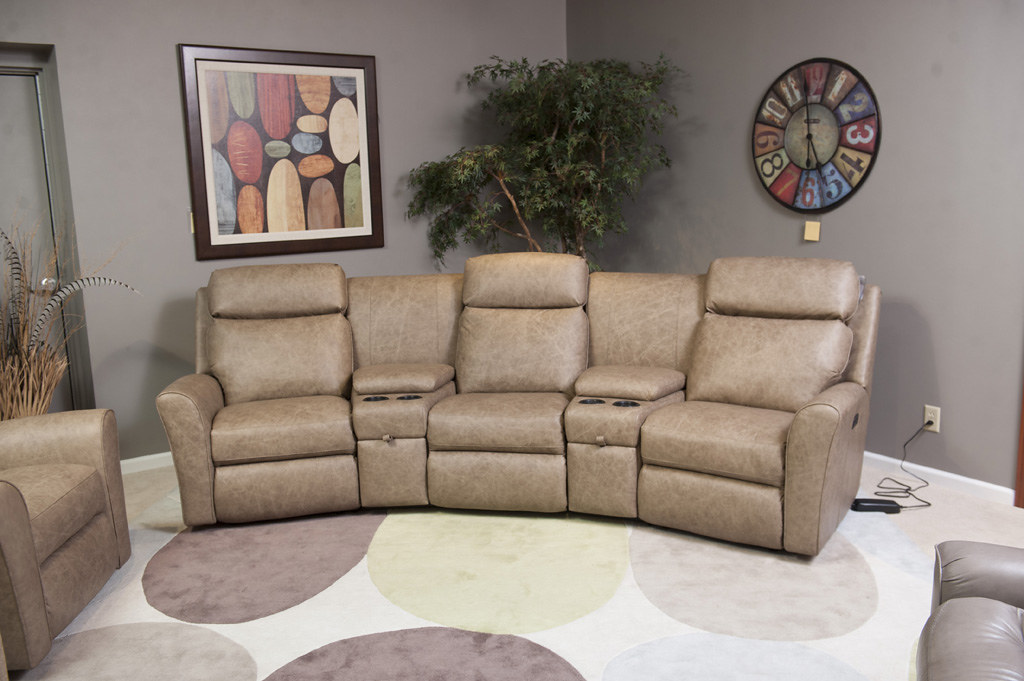 NEW 418 Sectional (Brianu0027s Furniture) Tags: New Cup Leather Theatre  Brothers Furniture Indiana