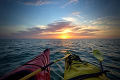 Sunset on the Gulf (WabbyTwaxx) Tags: sunset mexico island riot gulf florida kayaking paddling kayaks captiva