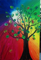 Glass Leaf Fig Tree (TejaO) Tags: tree art glass rainbow artsy brightlycolored