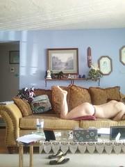 Couch Display (short37) Tags: ass naked nude barebutt barefoot bareass barebottom baresole assandfeet myassfeet