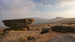 Noe Where Better (matrobinsonphoto) Tags: uk sunset england outcrop cloud mist mountain weather misty landscape golden back scenery rocks view outdoor head district derbyshire south low hill rocky peak scout kinder valley hour guide stool murky noe tog edale murk swines