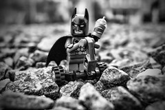 The Bat-Segway (Silverio Photography) Tags: blackandwhite photoshop canon toy photography dc lego elements batman segway 24mm minifig vignetting hdr topaz adjust 60d
