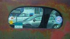 Inernational Cabin Rear Window (brandsvig) Tags: window car truck vintage skne rust sweden rear pickup international april rost malm americanclassic 2016 internationalharvester veteranbilar samsungs4