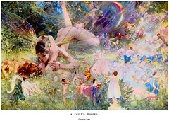 Charles Sims (1873-1928) - A Fairy's Wooing (1898) custom colorized version (ketrin1407) Tags: musicians forest painting naked nude kiss erotic 19thcentury victorian band sensual colorized fairies heterosexual glade colorization lovemaking courtship late19thcentury charlessims