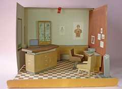 Not Mine- Dr. John Littlechap's Office (Foxy Belle) Tags: house vintage john office dr structure medical cardboard doctor 1960s remco littlechap