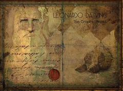 Framed Diptych Panel - Leonardo Da Vinci, The Graphic Works (jimlaskowicz) Tags: art classic vintage diptych artistic surreal textures airship layers