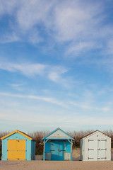 beach huts - negative space assignment (potterslass) Tags: sky beach huts theme12