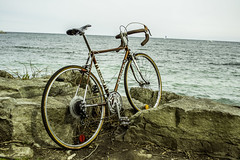 Late 1970's Mercier French Bike (@GingerSnaps) Tags: old water vintage rocks waterfront hipster shore mercier bycicle