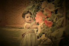 My Fairy Tale (Ayeshadows) Tags: flowers baby girl garden necklace princess fairy browns myworld mydaughter frok colourofmylife