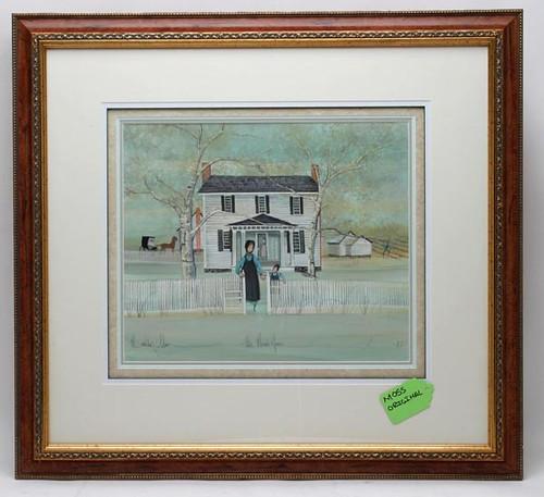"Original P. Buckley Moss Water Color, ""The Plumb House"" -Waynesboro, Virginia ($1,705.00)"