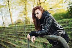 (BeastieBernd) Tags: portrait leather decay jacket bielefeld beton rundown unkraut heruntergekommen radrennbahn