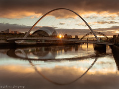 Millenium Bridge & The Sage - EXPLORED (Photography by Chris Gregory) Tags: sunset newcastle sage gateshead milleniumbridge rivertyne canonef1740mml leefilters canon5dmkii