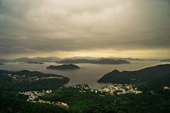 -Overlook on High Junk Peak. (AllenPan02) Tags: sea cloud mountain lake hongkong scenery top wave peak overcast surface  overlook