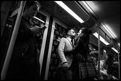 Je t'adore (GioMagPhotographer) Tags: light berlin love germany subway couple leicamonochrom