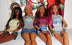 Goddess Fashionistas (Dia 777) Tags: dolls goddess barbie fashionistas dollcollection blackbarbie redruffles blackdolls blackgoddesses barbiefashionistas dia777 icecreamromper dolledupdenim barbiegoddesses