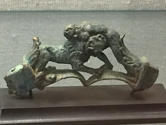 Herakles wrestling the Nemean lion (curiousl) Tags: people man museum bronze person israel ancient antique lion indoors haifa figurine archeology struggle 2016 heracles hechtmuseum