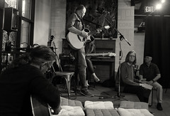 Cafe Blanca Open Mic (Sherlock77 (James)) Tags: people musician woman man calgary guitar percussion openmic