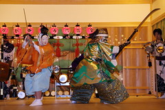 Traditional mask performance (Teruhide Tomori) Tags: festival japan night dance kyoto stage performance   tradition    rokusainenbutsu