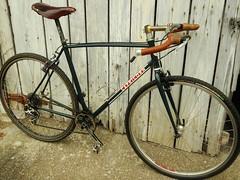 Old Handlebars and Final Set-Up (guidedbybicycle) Tags: bike cross handmade steel custom saddle handlebars cyclocross brooks nitto 1x