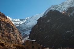 Man / Nature (Pooja Pant) Tags: nepal mountains beautiful trek abc annapurna annapurnabasecamp macchapuchre