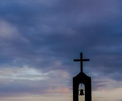 Chapelle Tain l'Hermitage (a.ogueboule) Tags: sunset sky de soleil coucher ciel chapelle cloche croix